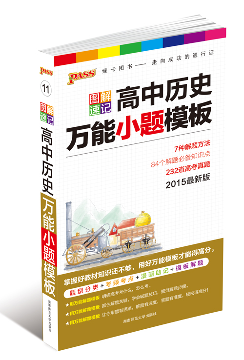 2015版PASS图解速记高中历史万能小题模板